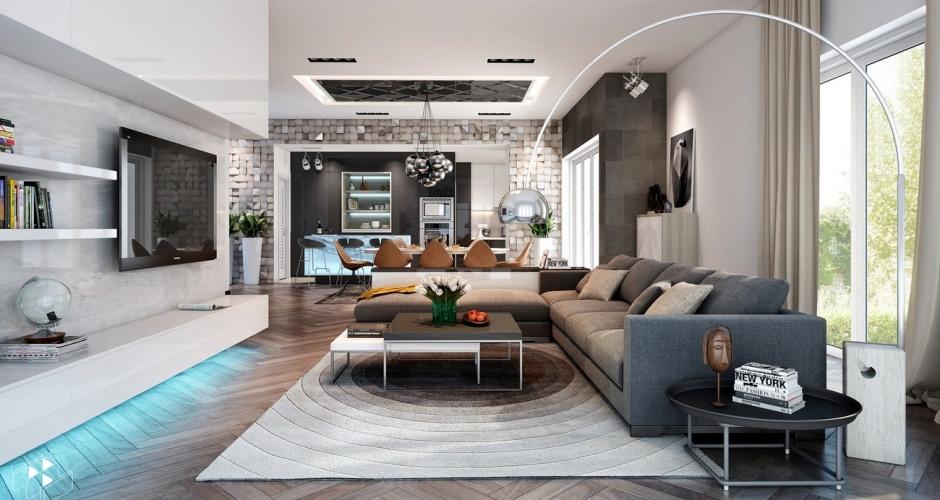 Contemporary But Comfortable Interior Designs