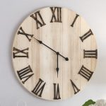 Wood Plank Wall Clock